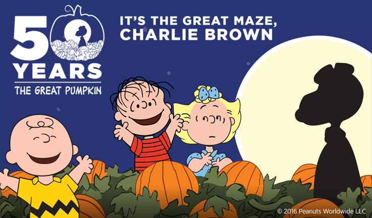 Giant Corn Maze 2016 - 50 Years, the Great Pumpkin - Charlie Brown and Peanuts